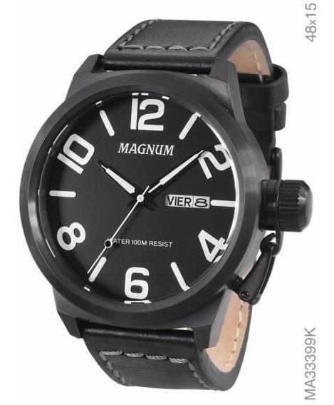 Relógio Magnum Masculino Ma33399k Preto Soviet Militar - Nf