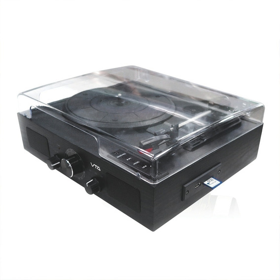 Sistema De Audio Retro Con Lector De Acetatos Bluetooth