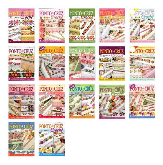 Kit 10 Revistas Ponto De Cruz & Crochê Banho Lote 1