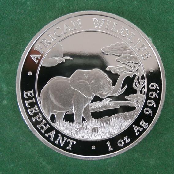 2019 1 Oz Plata Elefante Somalia Proof Espejo