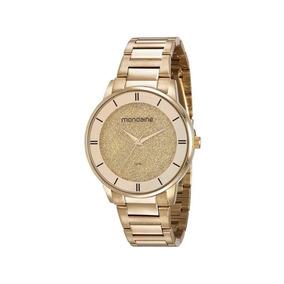 Relógio Mondaine Feminino Dourado 53682lpmkde1