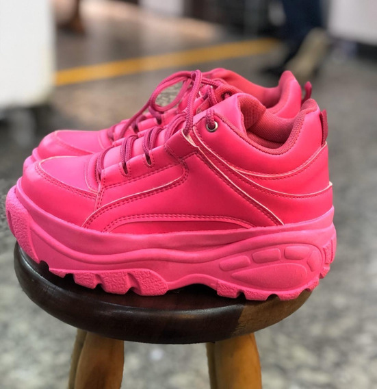 Tênis Sneaker Buffalo Feminino Plataforma Conforto Promoção!