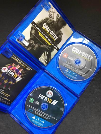 2 Jogos De P S 4   Call Of Duty & F I F A 18
