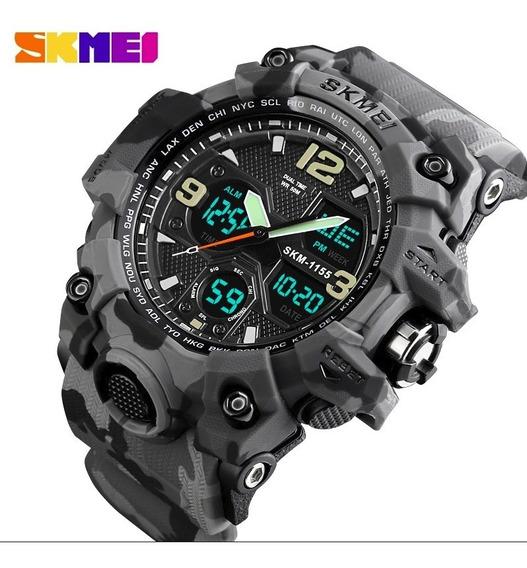 Relógio Estilo G-shock Militar Skmei 1155 Original Camuflado