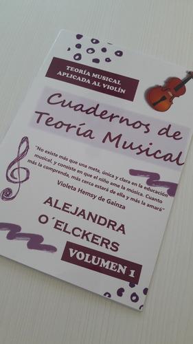 Imagen 1 de 8 de Cuaderno De Teoria Musical Para Violin - Volumen 1