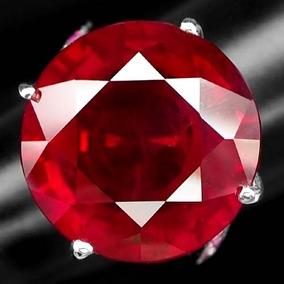 Rubi Natural Sangue De Pombo 25,60ct+12 Gemas Anel Prata 925
