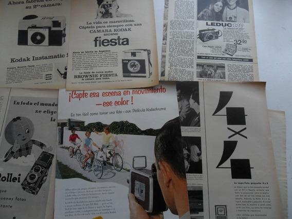 Lote Antiguo Publicidad Foto Camara Fotografica Rollei Zeiss