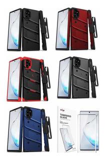 Funda Zizo Bolt Samsung Galaxy Note 10 Plus + Clip + Vidrio
