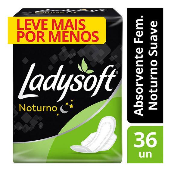 Absorvente Ladysoft Noturno Suave Com Abas Com 36 Unidades