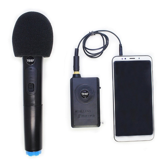 Microfone Sem Fio Para Smartphone, Celular, Reportagem, Live