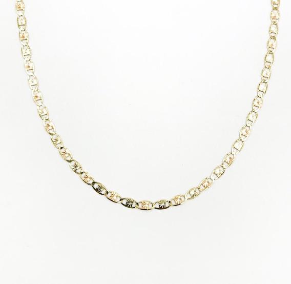 Cadena Estrella 3 Colores Oro 10k 60cm - 3gr + Estuche