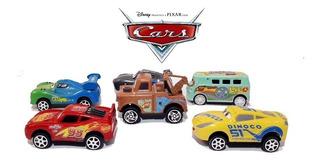 Kit 6 Carrinhos Relâmpago Mcqueen Disney Carros Brinquedos