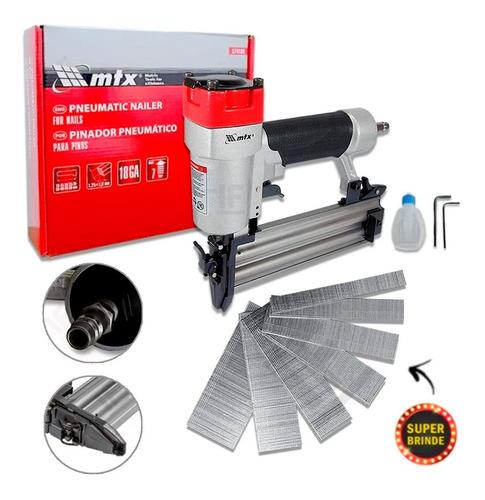 Pinador Pneumático Pinos 10 A 50mm Mtx Profissional + Pino