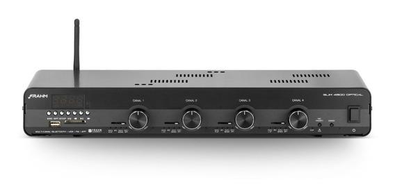 Amplificador Receiver Som Ambiente Frahm Slim 4500app G2 Optical Bivolt