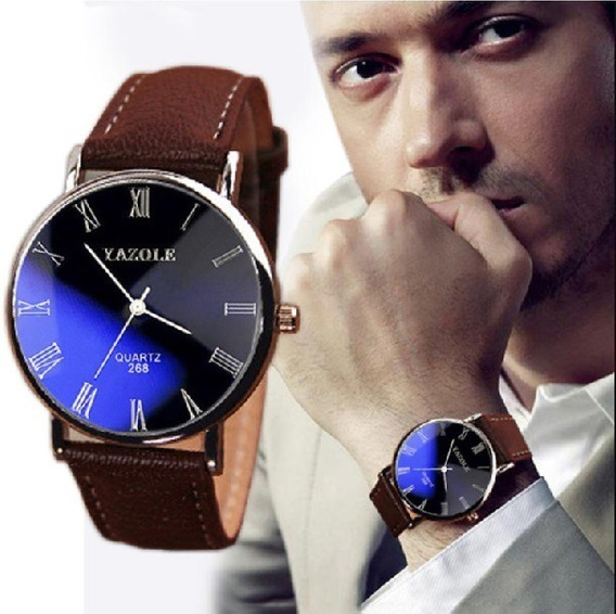Kit 04 Relógio Luxo Bonito Em Couro Social Atacado Revenda
