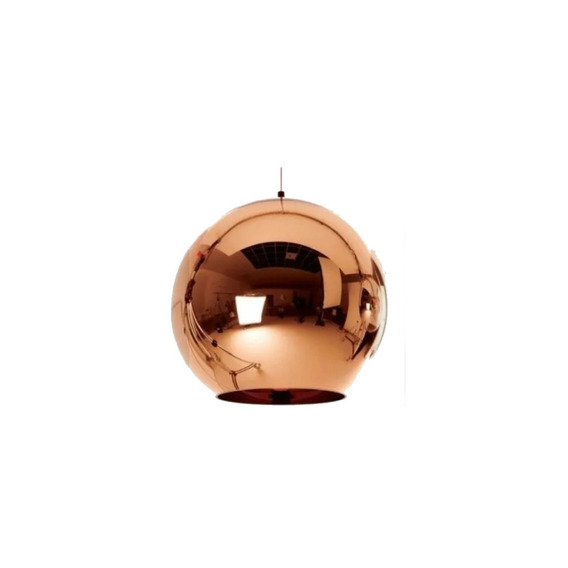 Lustre Pendente Vidro Cobre Tom Dixon - Copper Shade Ø18cm
