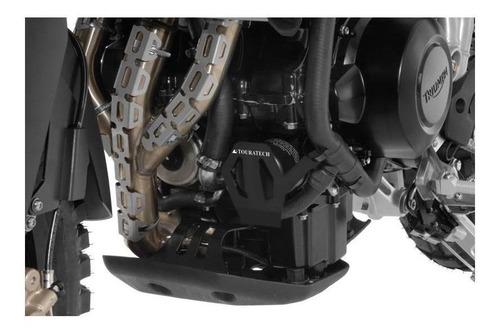 Protetor Do Filtro De Óleo P/ Triumph Tiger 800/xc/xcx Prata