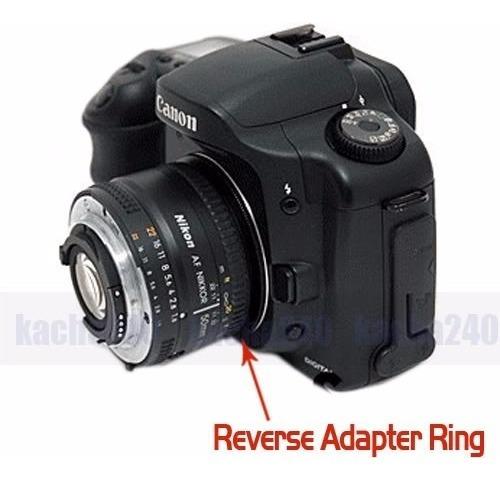 Anillo Inversor Macro Canon Ef 58mm Adaptador Aro Eos