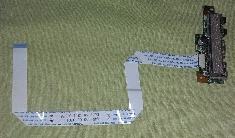 Placa De Som + Usb + Flat Note Positivo Unique N4100 Dc