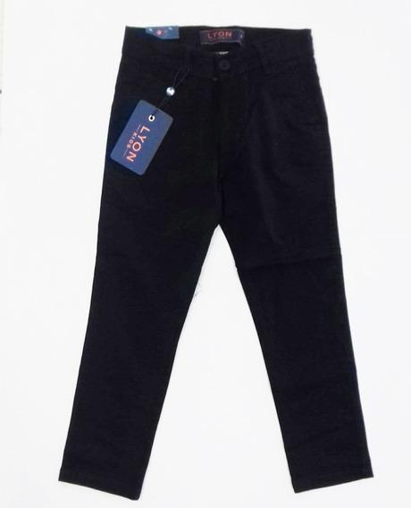 Pantalon Lyon Niño Color Negro Y Kaky #4 A 16 R
