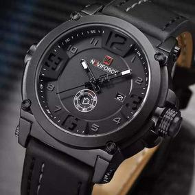 Relógio Masculino Militar Naviforce Pulseira De Couro