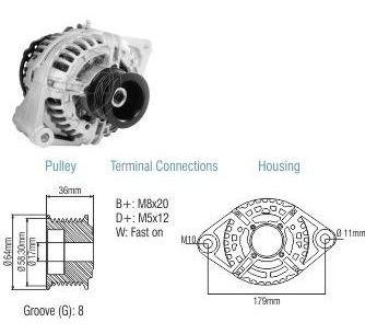 Alternador Bosch Cargo 915 A 5031 90a 12v