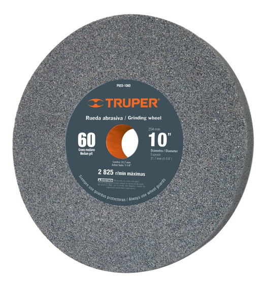 Piedra De Esmeril Oxido De Aluminio 10 Grano 60 Truper 12402