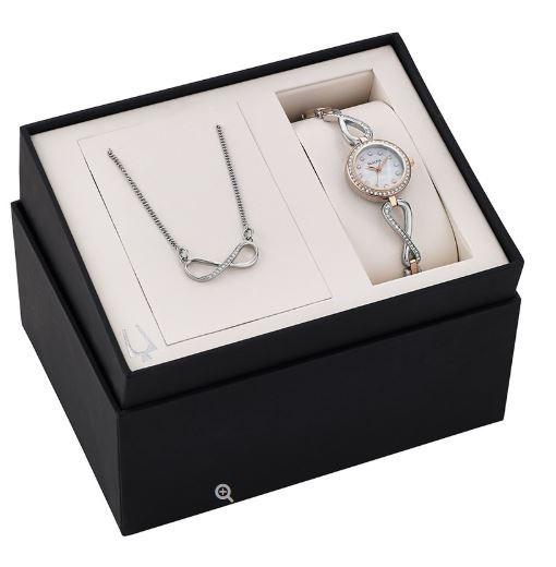 Relógio Bulova Feminino Wmns Crystal Mother Of Pearl Watch
