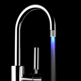 Sdf - C6 Único Cor Azul Led Torneira Água Luz