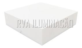 Kit 5 Plafon De Sobrepor Acrilico 20x20 Luminaria
