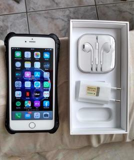 iPhone 6 Plus Tela 5,5 Com Caixa E Acessórios