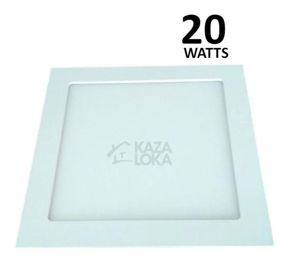 Painel Plafon Led De Embutir 20w Quadrado Slim Save- Energy
