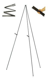 Caballete Color Negro De Plegable, Base Para Pintar, Pizarra