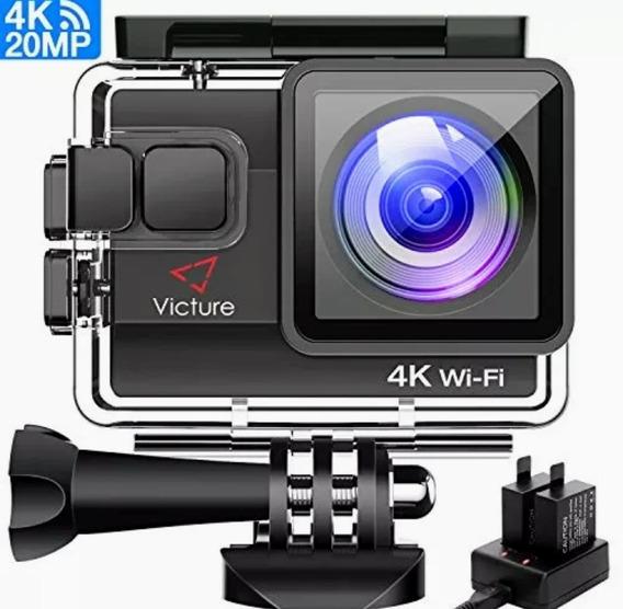 Victure Camera Esportiva Wifi 4k Ultra Hd 20mp+64gb Incluído