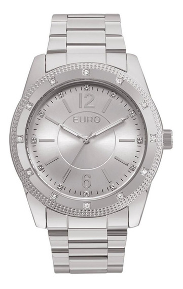 Relógio Euro Analógico Feminino Eu2035ymp/3k Prata