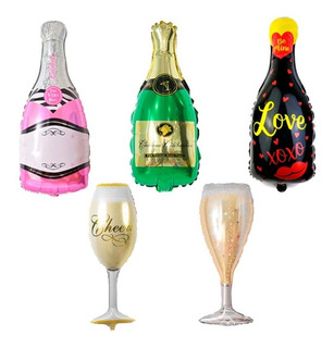 Globo Metalizado Fun Champagne Copa Surtidos Cotillon 18