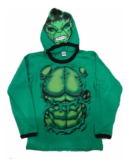 Remera Con Máscara Araña Zombies Batman Hulk Dia Del Niño