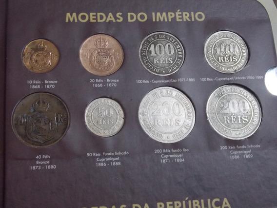 Box Contendo Coleção Incompleta De Moedas Brasil Por Tipo
