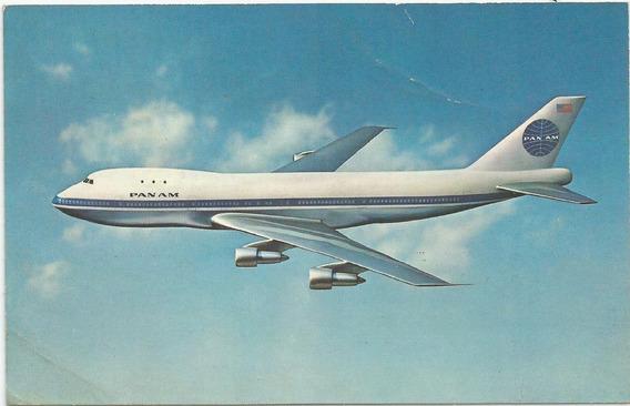 Antigua Postal Avión Boeing 747 Jet, Pan Am