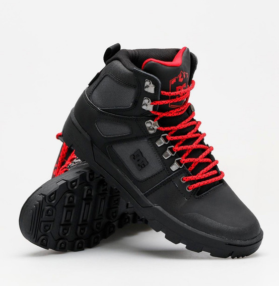 Zapatillas Dc Borcegos Pure Ht Black/grey/red (xksr)
