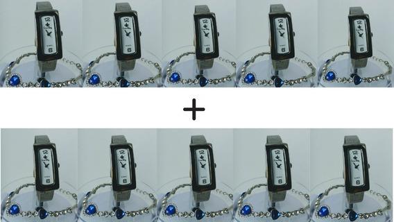 Kit 10 Relógios Feminino Original Pequeno Atacado Revenda