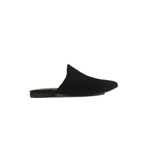 Zapato Mujer Zueco Natacha Gamuza Negro #143