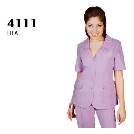 Conjunto Saco Pantalón Dama 4111 Lila Uniformes