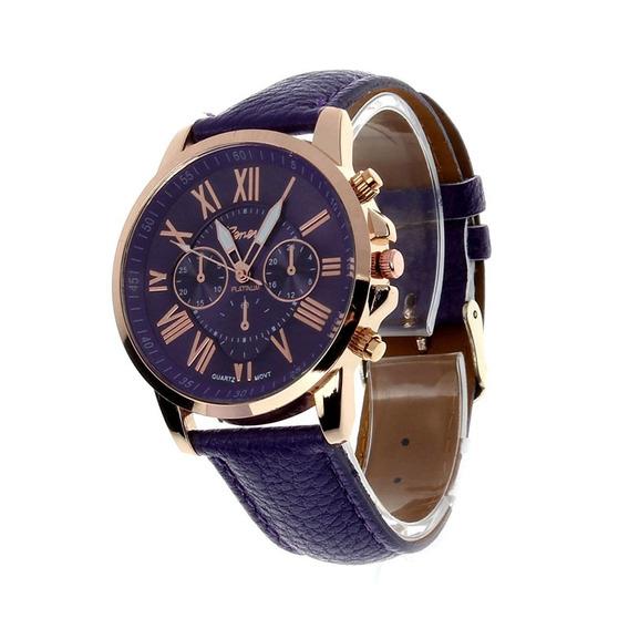Kit Com 2 Relógio Azul E Preto + Um Brinde