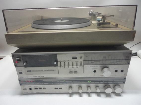 System Philips Ah621 Receiver Deck Toca Discos ( No Estado )