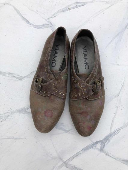 Zapatos Viamo Chatitas De Cuero Febo Talle 36 (t)