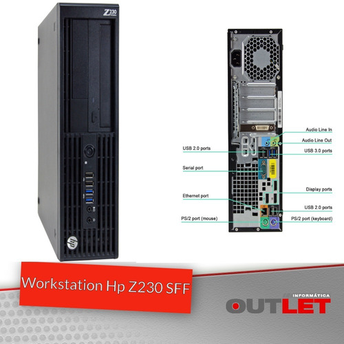 2 Uni Workstation Hp Z230 Sff Sem Memoria/hd/vga/processador