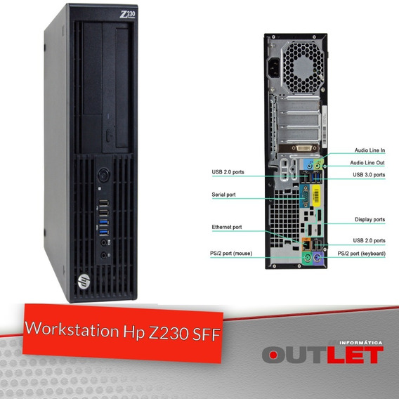 Workstation Hp Z230 Sff Xeon E3-1225v3 8gb 500gb Quadro K600
