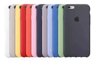 Funda Silicon Case iPhone 5 5s 6 6s 7 8 Plus X Xs 24 Colores