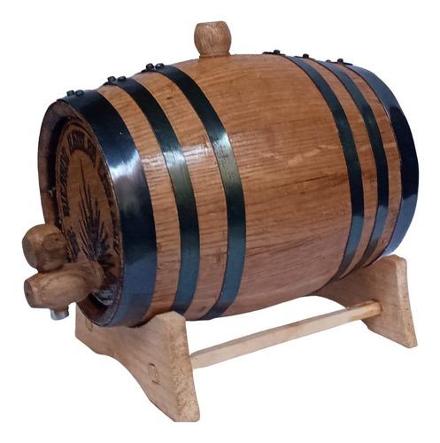 Imagen 1 de 6 de Barril Para Tequila Madera Personalizado Añejar Bebidas 1lt.